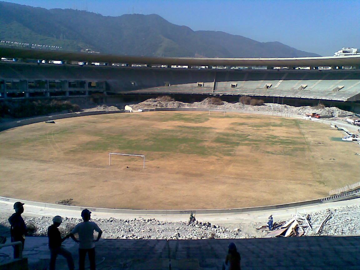 large empty stadium