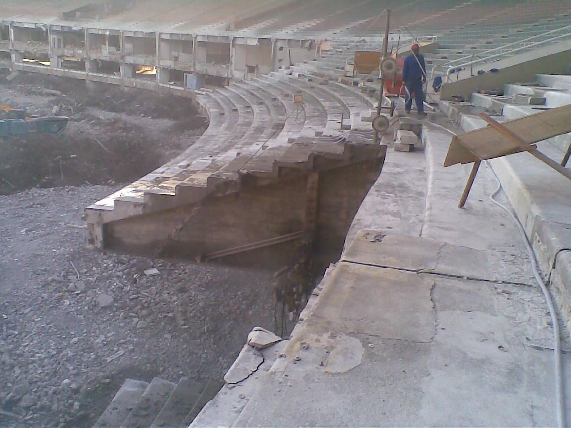 concrete stadium seating