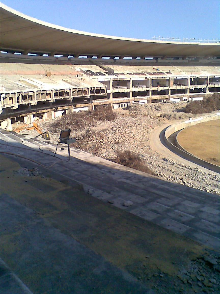 abandoned stadium