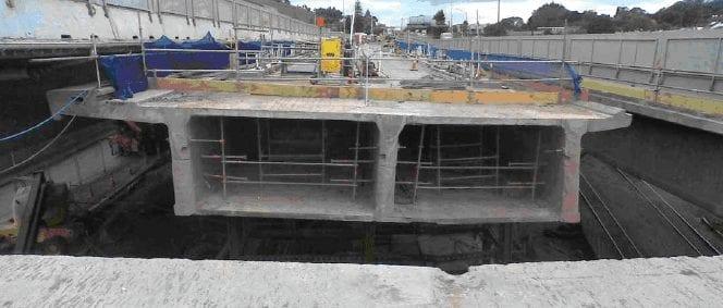 concrete bridge demolition